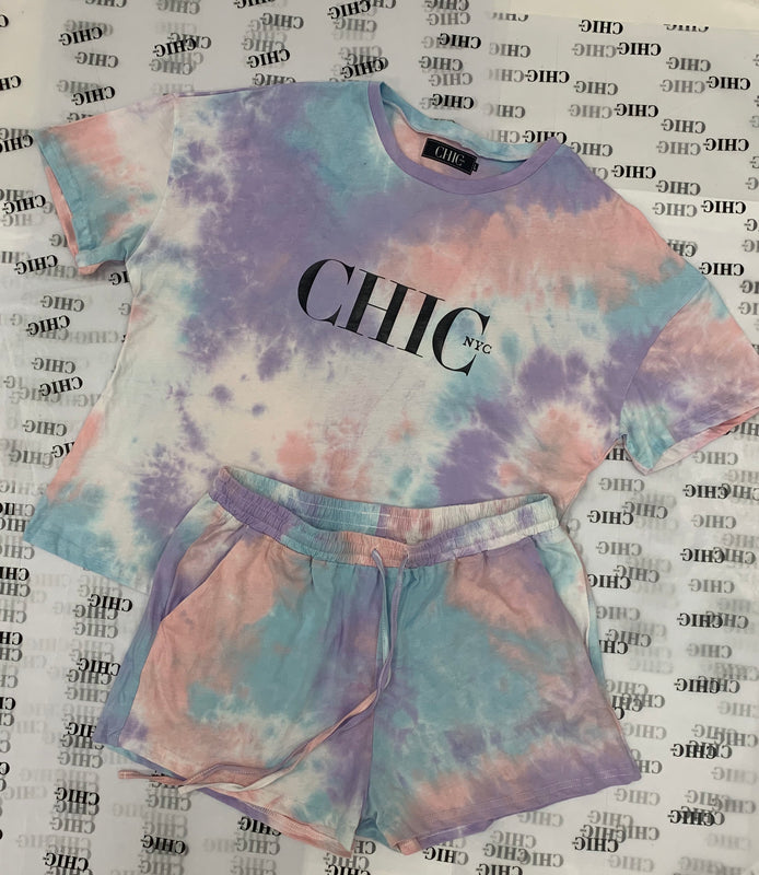 Tie Dye Chic NYC Shorts Set - Summer 2020
