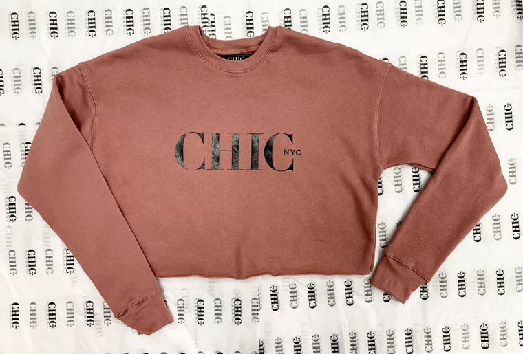 CHIC NYC Mauve Short Waist Sweatshirt