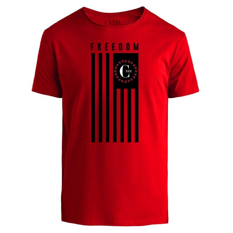 Red Freedom USA Flag T-Shirt