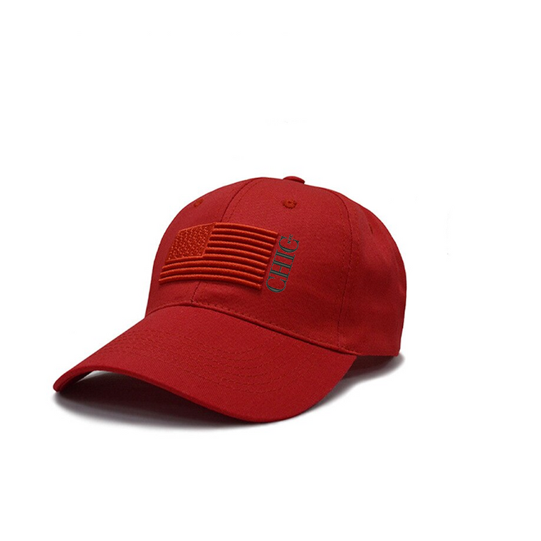 Chic NYC American Hat - Red