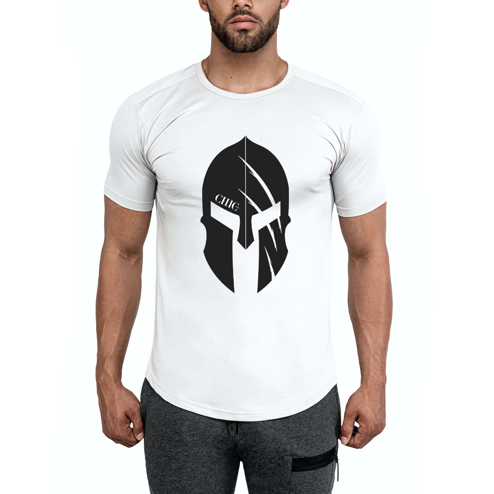 White Spartan Fitness T-Shirt