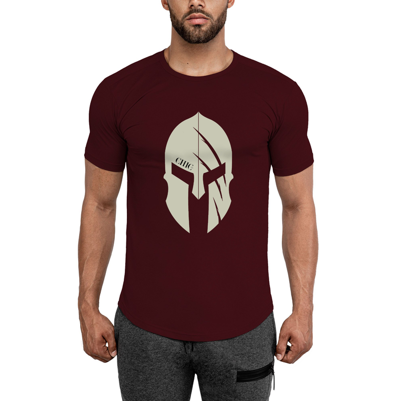 Claret Red Spartan Fitness T-Shirt