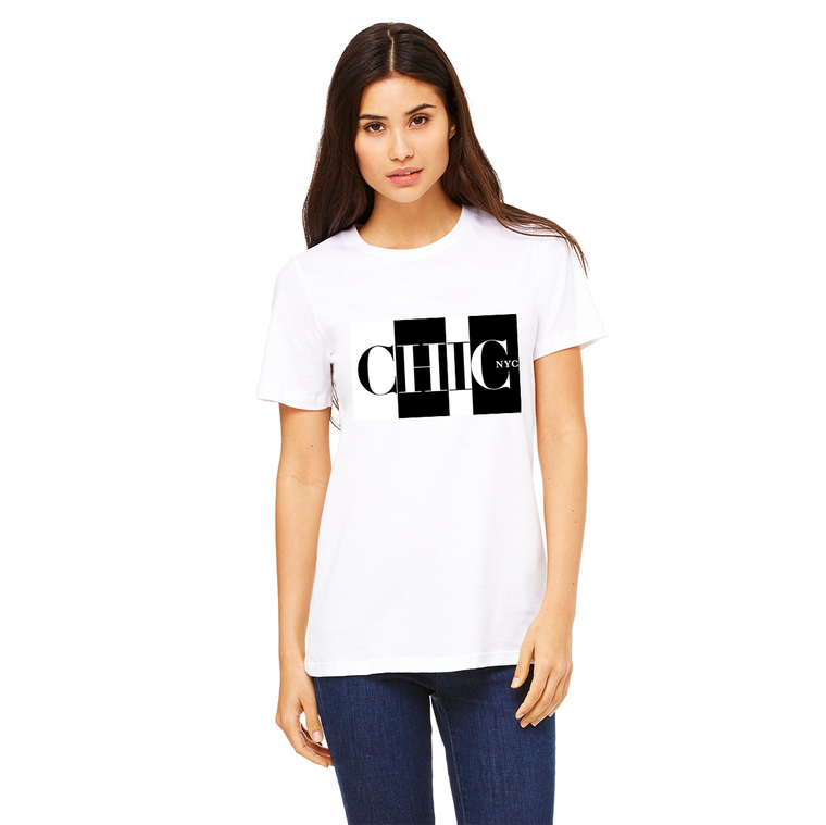 Chic NYC Black & White Tee Shirt - As featured at New York Fashion Week