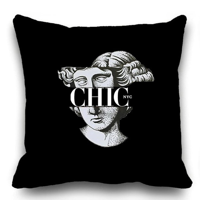 Chic NYC  Patterned Pillow