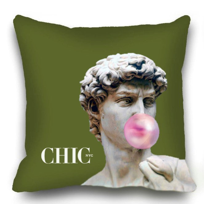 Chic NYC  Green Pillow