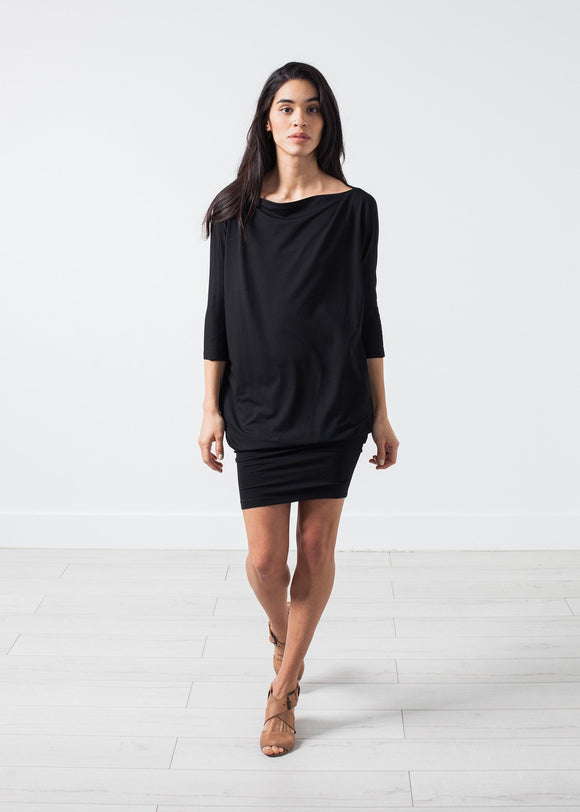 Tapered Boat Neck Dress