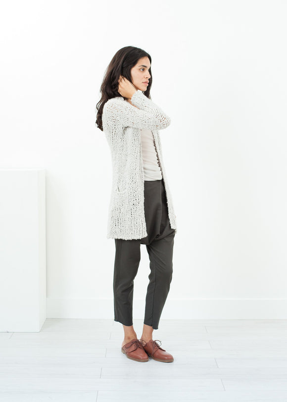 Bulk Stitch Cardigan in Cloud