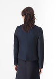 Weave Jacket in Black/Blue