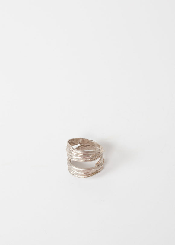 Silver Coil Ring in Sterling
