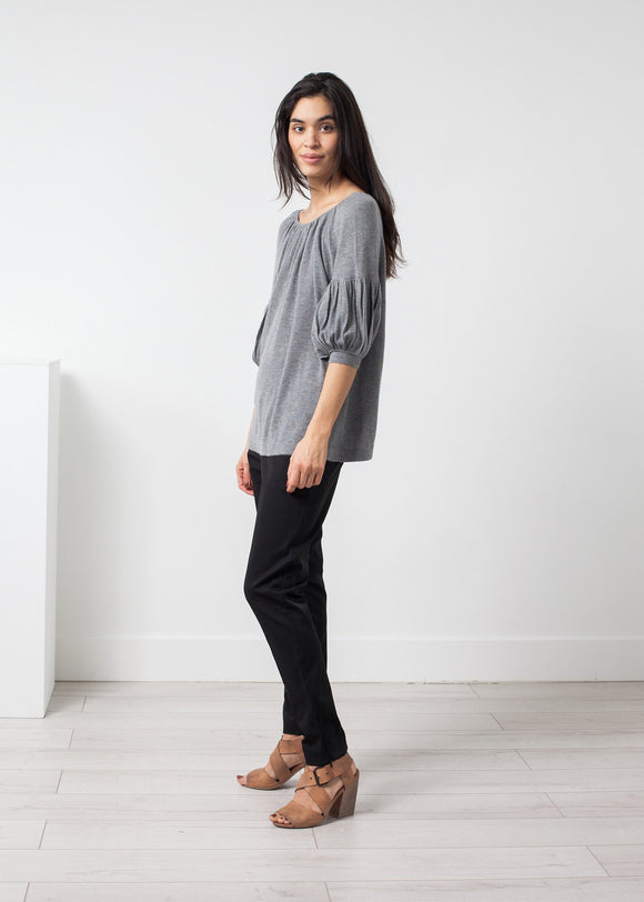 Cashmere Puff Sleeve Knit