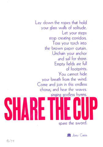 Share the Cup Broadside