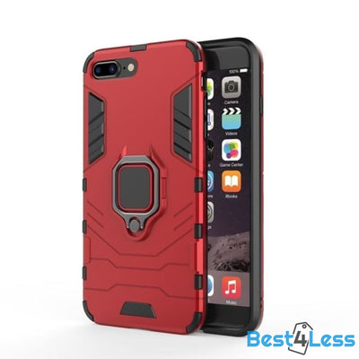 Best4Less Shockproof iPhone Case - Red / For iPhone 5 5S SE