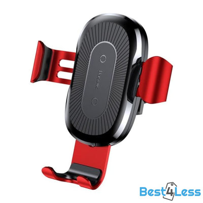 Wireless Phone Charger & Car Mount - Red
