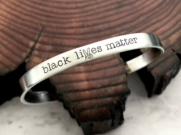 Black Lives Matter Peace Sign Bracelet
