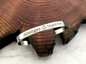 Stronger Together Black Lives Matter Solidarity Allyship Bracelet