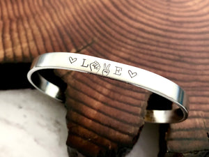 LOVE Fist and Peace Sign Black Lives Matter Solidarity Bracelet