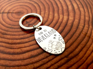 Off To Neverland Keychain