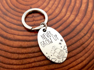Never Grow Up Keychain