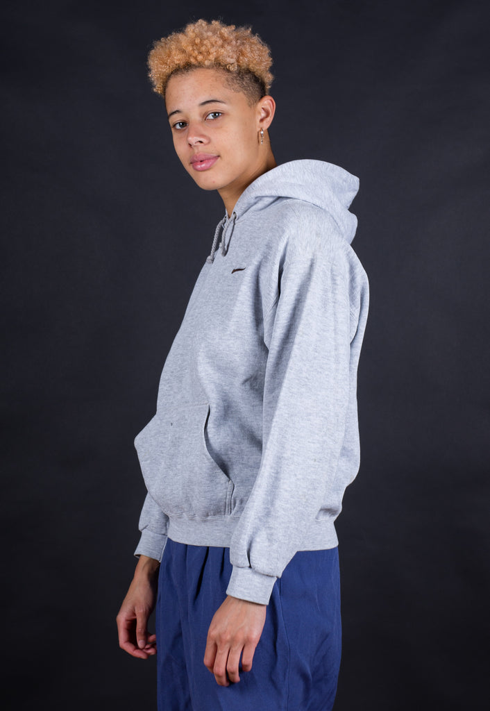 90's Nike Grey Embroidered Small Logo Hoodie