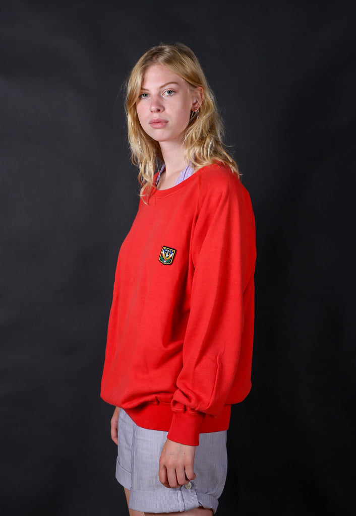 90's Polo by Ralph Lauren Red Minimal Crest Logo Sweatshirt