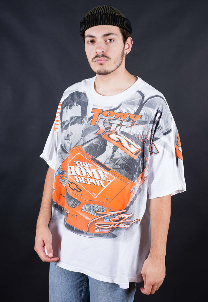 90's Nascar  White Home Depot All Over Print T-shirt