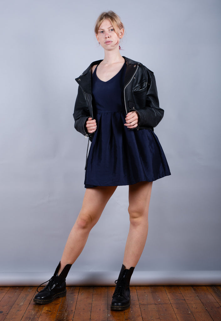 90's Christian Dior Blue Minimal Mini Dress