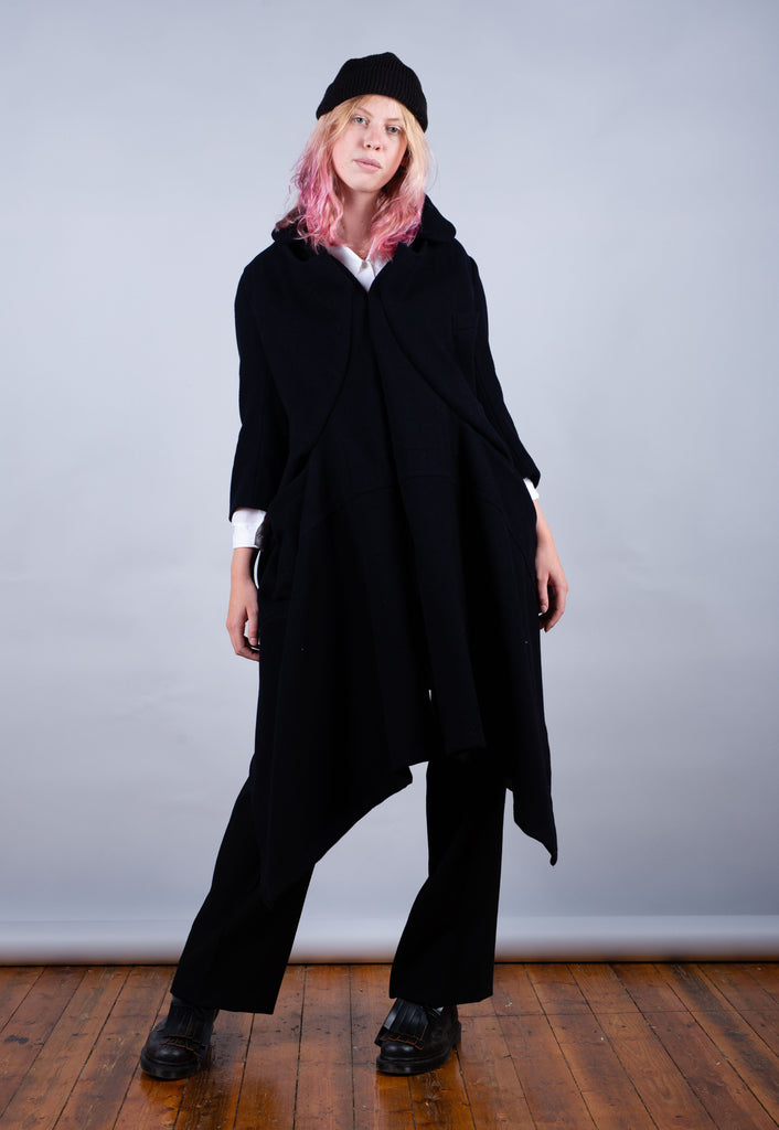 AW '06 Comme des Garcons Black Ready To Wear Rare Wool Coat