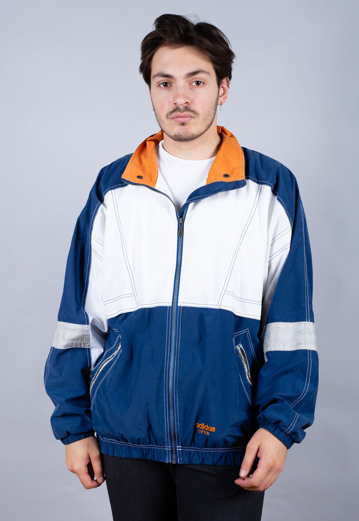 90's Adidas Blue Colour Block Tennis Track Jacket