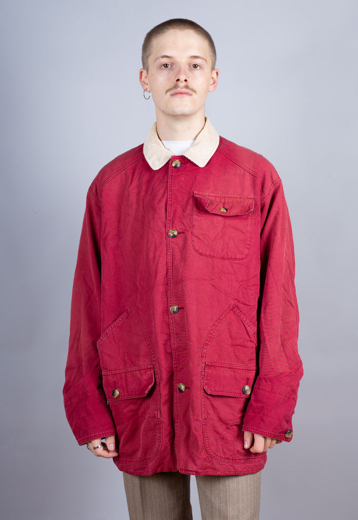 90's Tommy Hilfiger Maroon Classic Worker Jacket