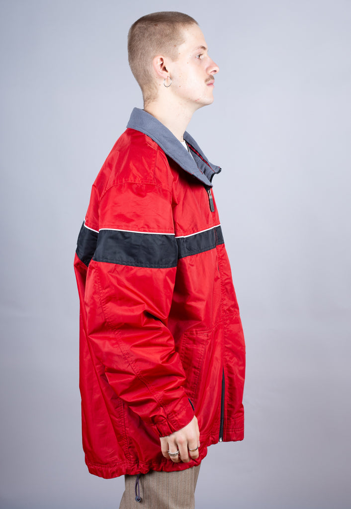 90's Nike Red Spell Out Puffer Jacket