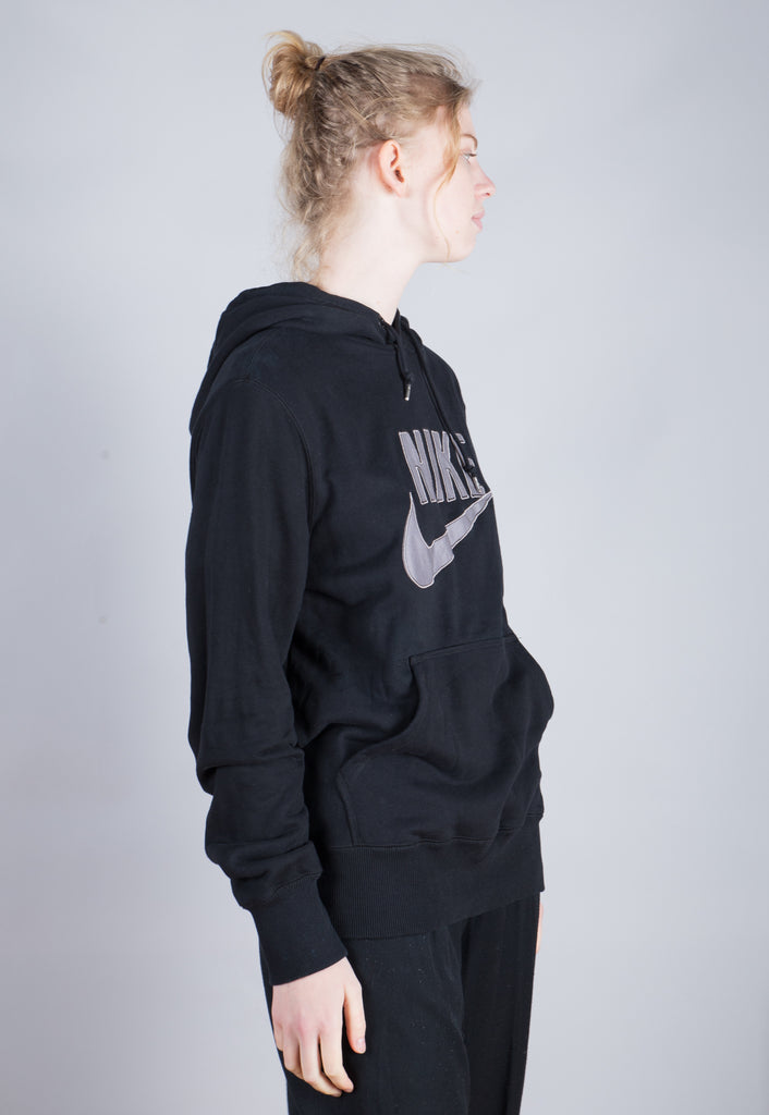90's Nike Black Embroidered Spell Out Sweatshirt