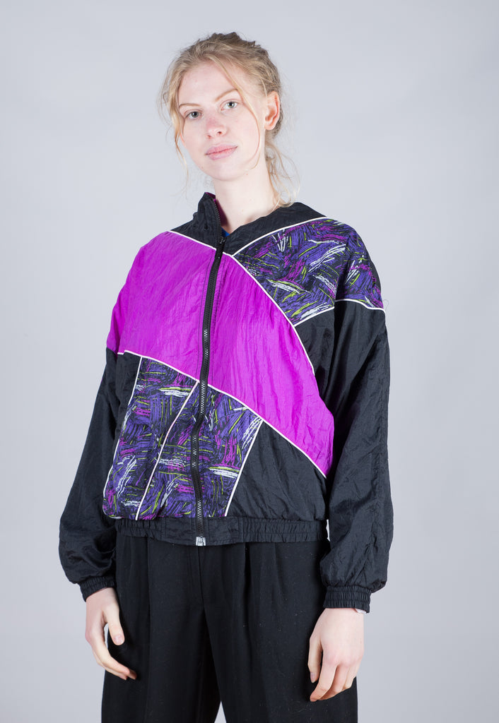 90's Reebok Multi Abstract Pattern Windbreaker
