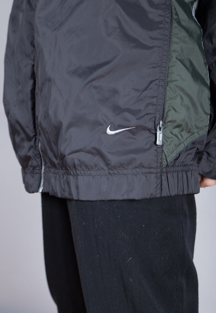 90's Nike Grey Minimal Small Logo Windbreaker