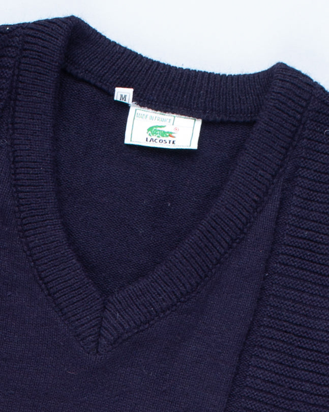 90's Blue Lacoste Pattern Jumper