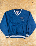 90's Starter Blue Dallas Cowboys  Pullover Windbreaker Jacket