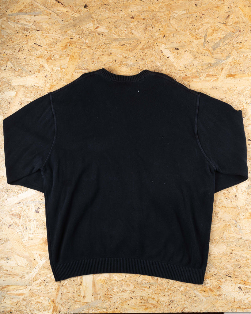 90's Lacoste Black V-Neck Jumper