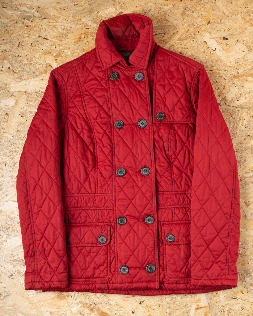90's Barbour Red Quilted Ladies Jacket