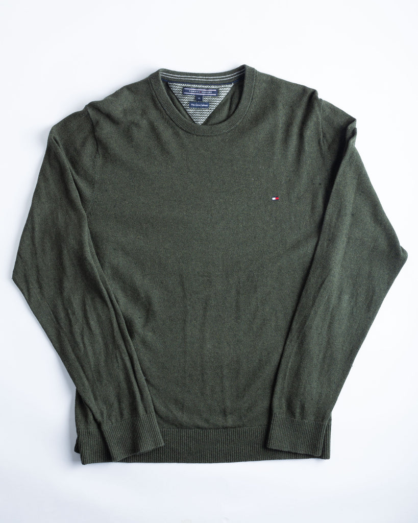 90's Tommy Hilfiger Green Jumper
