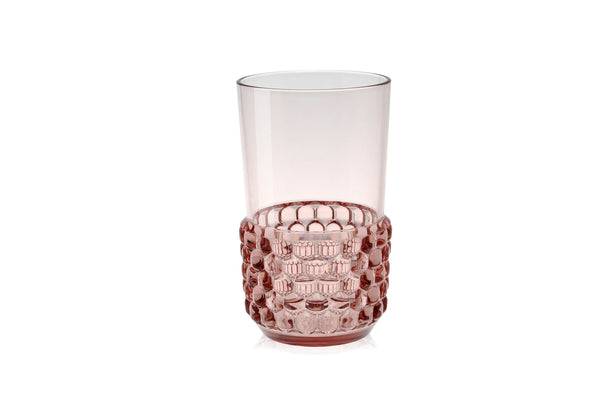 Kartell Jellies Family 4 x Long Drink Glass Pink