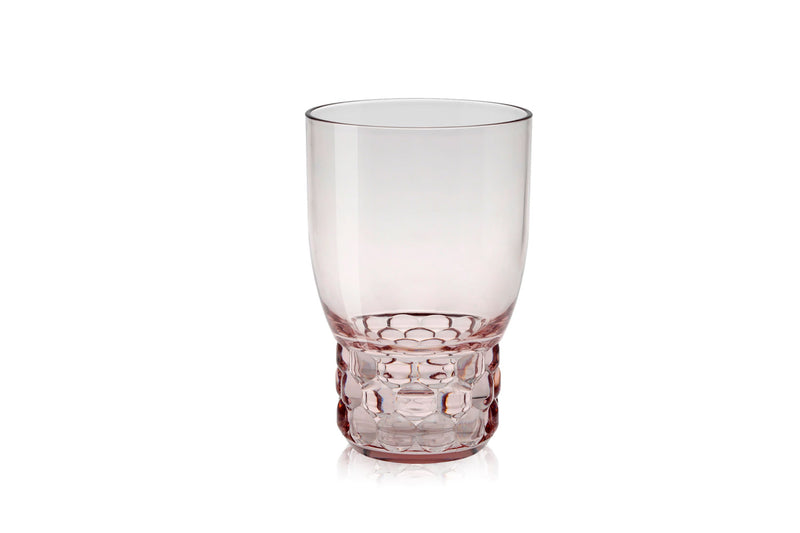 Kartell Jellies Family 4 x Water Glasses Pink