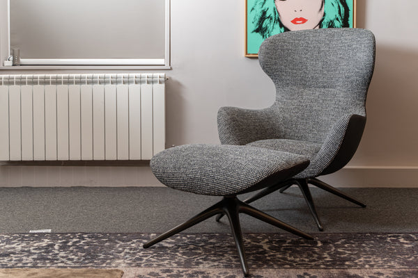 Poliform Mad Joker Armchair with Footstool