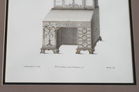 Architectural Print - Desk and Bookcase V2