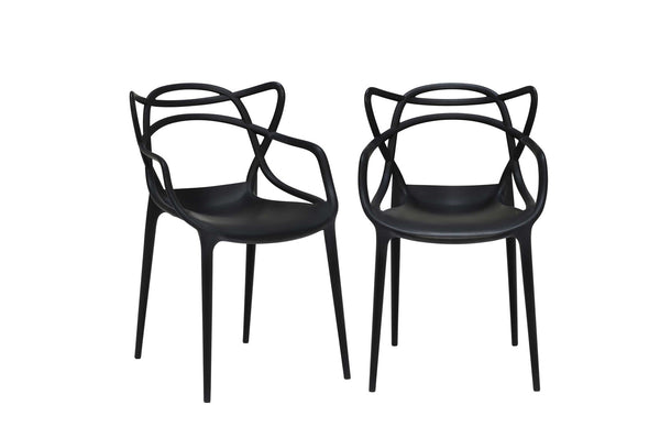 Kartell Masters Chairs (Pair) - Black