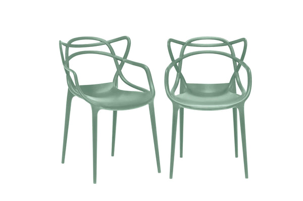 Kartell Masters Chairs (Pair) - Sage Green