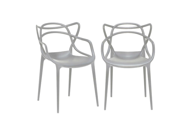 Kartell Masters Chairs (Pair) - Grey
