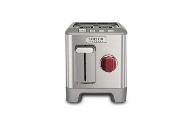 Wolf 2 Slice Toaster Red Knob