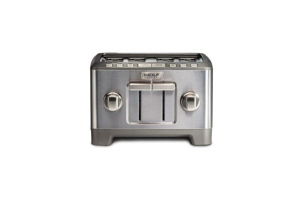 Wolf 4 Slice Toaster Brushed Stainless Knob