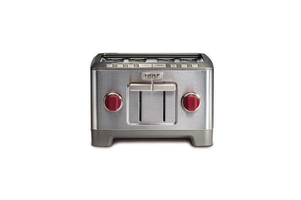 Wolf 4 Slice Toaster Red Knob