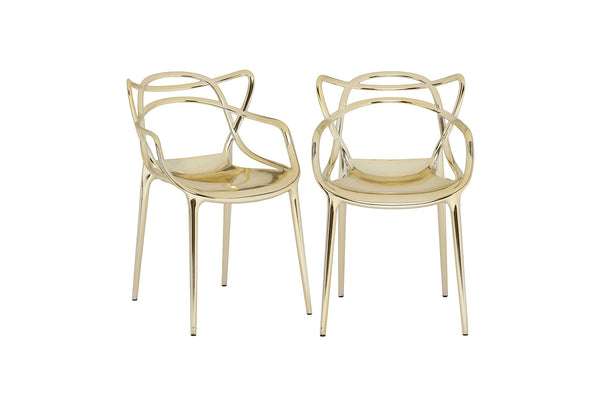 Kartell Masters Chairs (Pair) - Gold