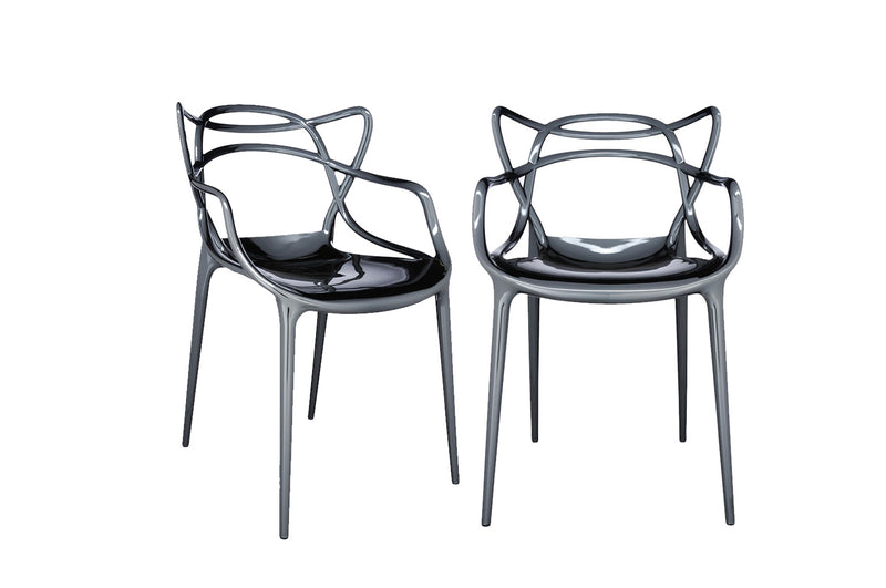 Kartell Masters Chairs (Pair) - Chrome